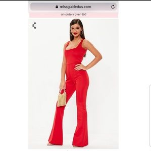 Missguided red bodysuit jumper PRICE FIRM